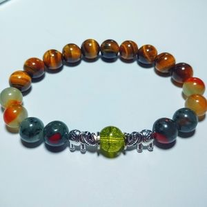Tiger's Eye elephant bracelet